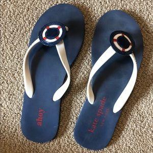 Kate Spade Nautical Flip Flops